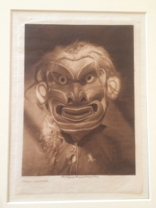 Edward Curtis photograveur of Kwakiutl ceremonial mask
